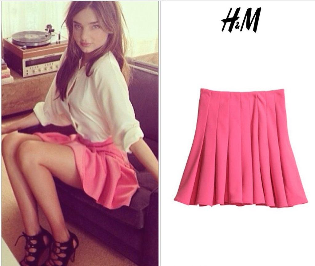 Spódnica Plisowana Pink H&M 42 NOWA Z1