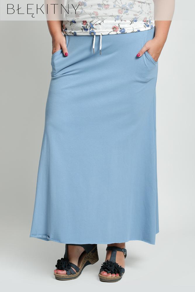 Długa spódnica gładka DLA PUSZYSTYCH D88 44
