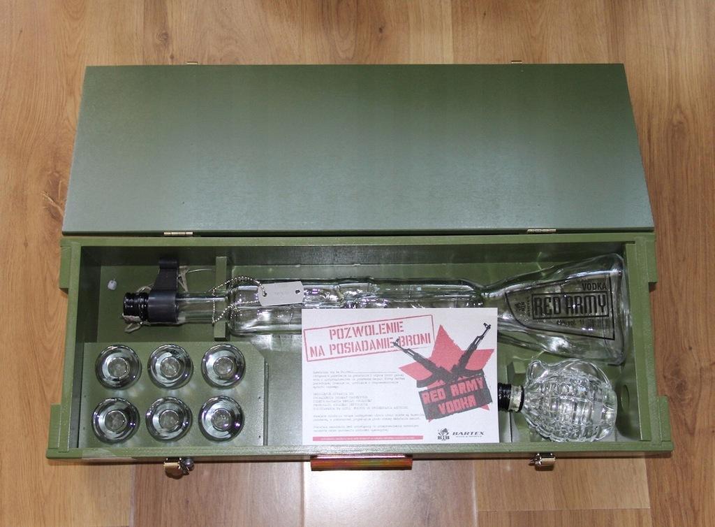 Red Army Pistolet Karabin Wodka Butelka 7507889155 Oficjalne Archiwum Allegro