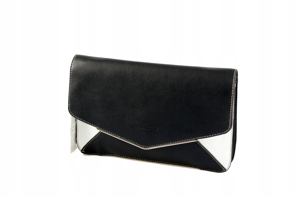Kopertówka biało czarna w Klasyczne torebki (wizytowy