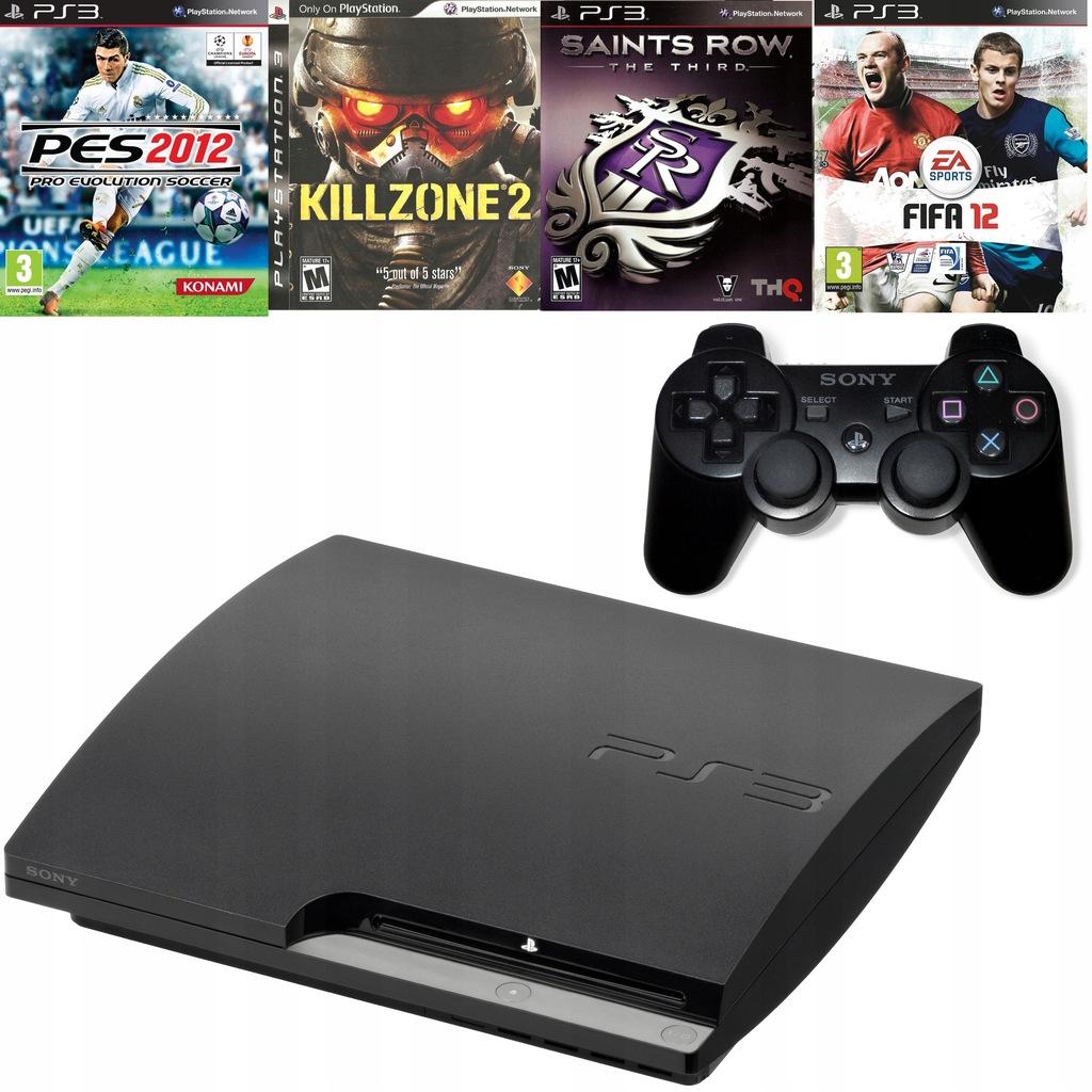 Playstation 3 Slim 320gb 1 Pad Oryginalny 4 Gry 7409893032 Oficjalne Archiwum Allegro