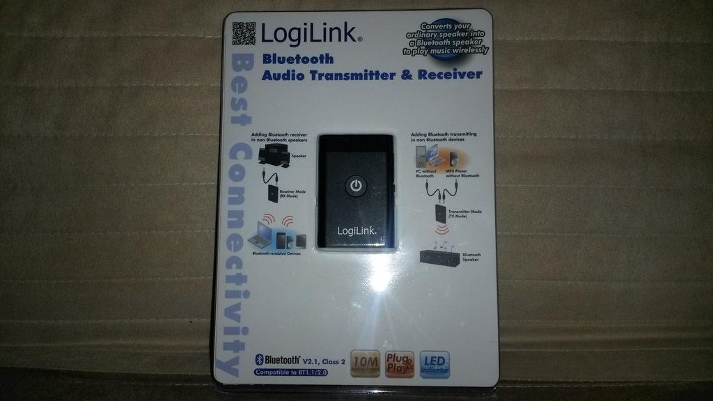 Bluetooth nadajnik odbiornik audio stereo LogiLink