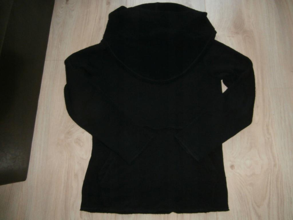 *ZARA* Sweter, swetr, czarny, golf - Rozm. L
