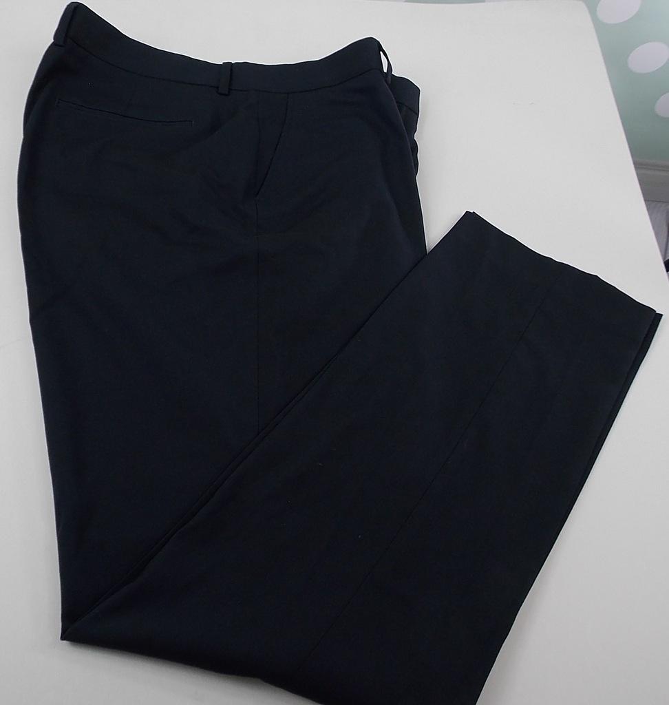 1.40m spodnie eleganckie granatowe slim W38 L34
