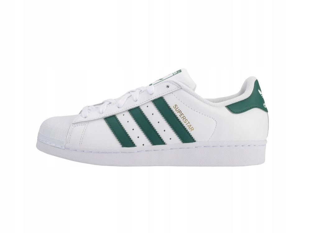 Adidas Superstar skórzane buty białe i Go Sneakers