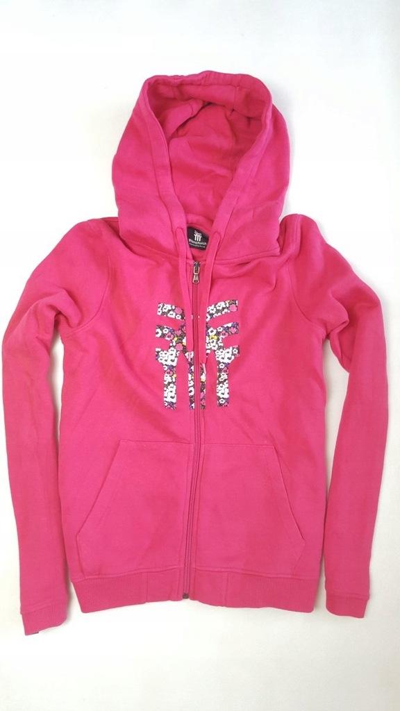 bluza różowa damska z kieszenią na środku z zamkiem