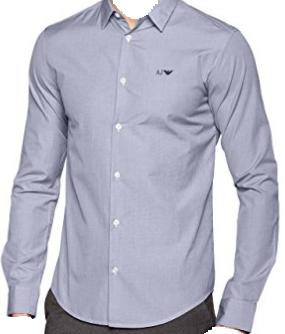 Koszula męska Armani Jeans F. Blue Slim Fit L 185