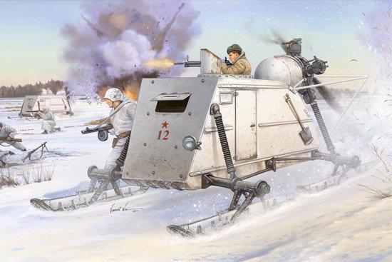 Trumpeter 02321 Soviet NKL-26 Armoured Aerosan (1: