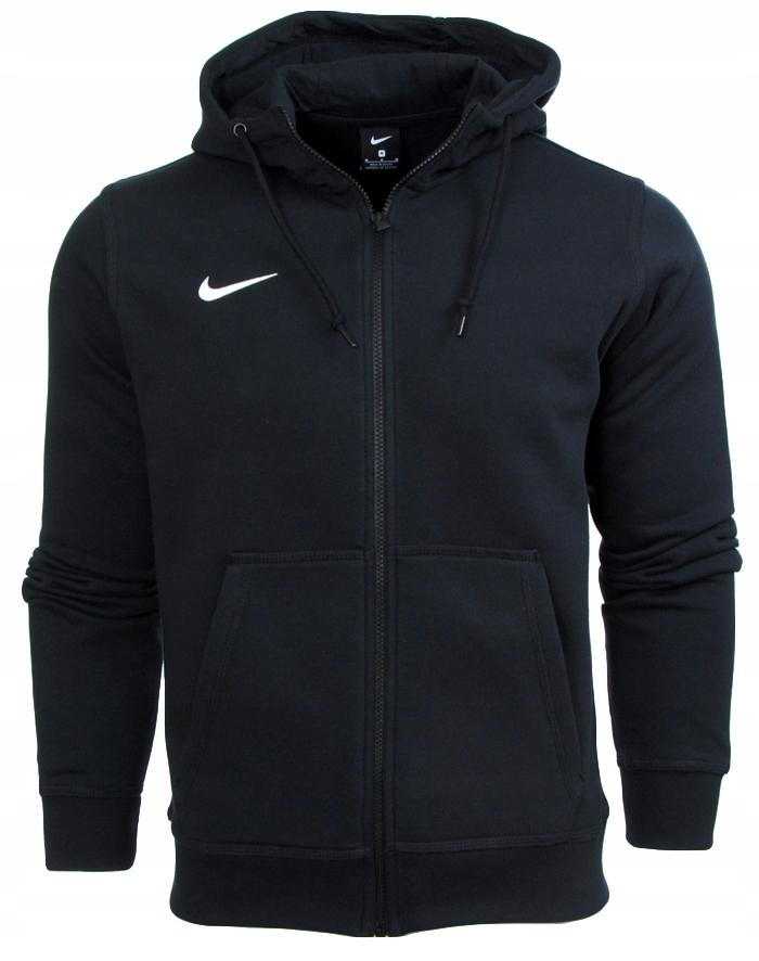 Bluza męska NIKE Pullover Hoodie czarna z kapturem bawełniana