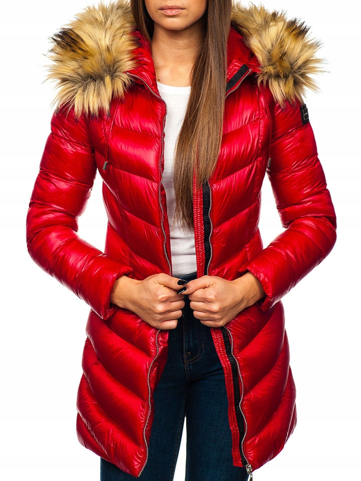 cserwona kurtka zimowa