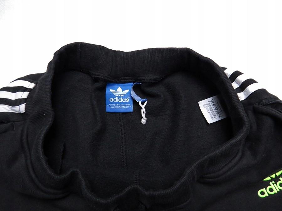 ADIDAS originals dresowe czarne spodnie pumpy M