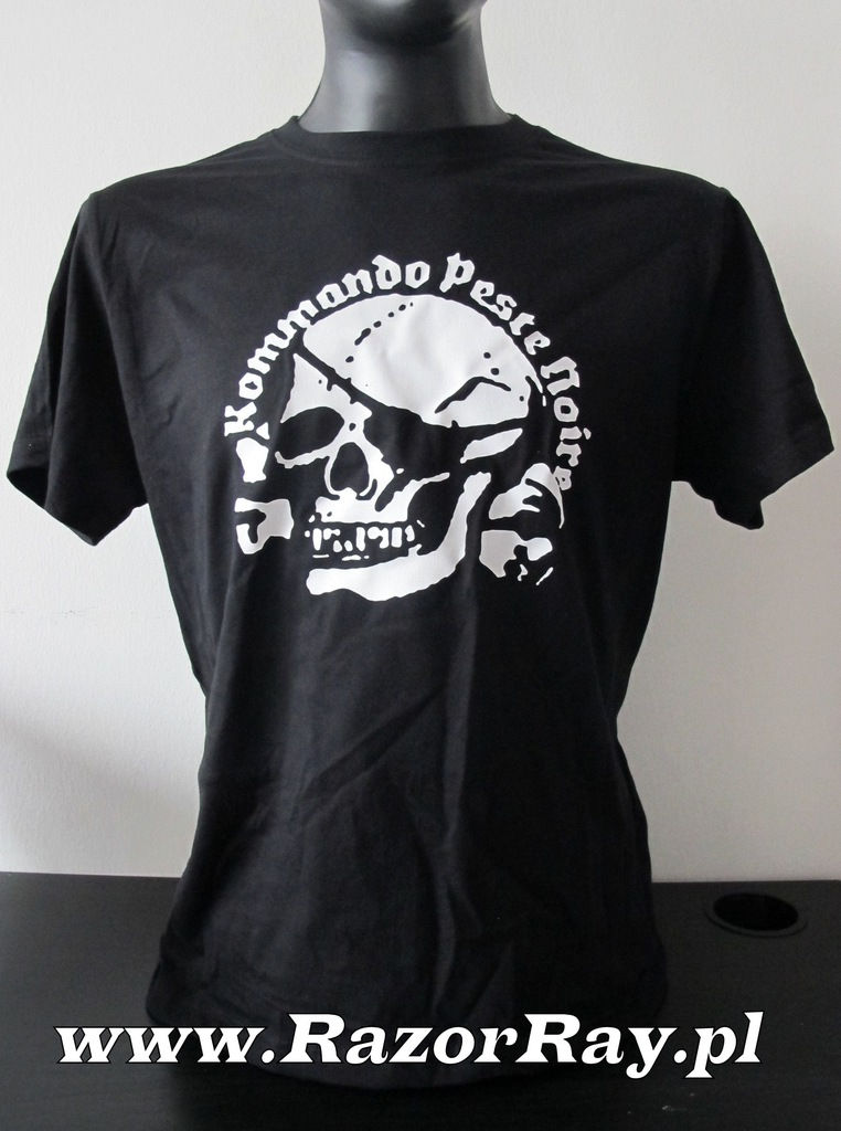 Noire shirt peste kommando contre la