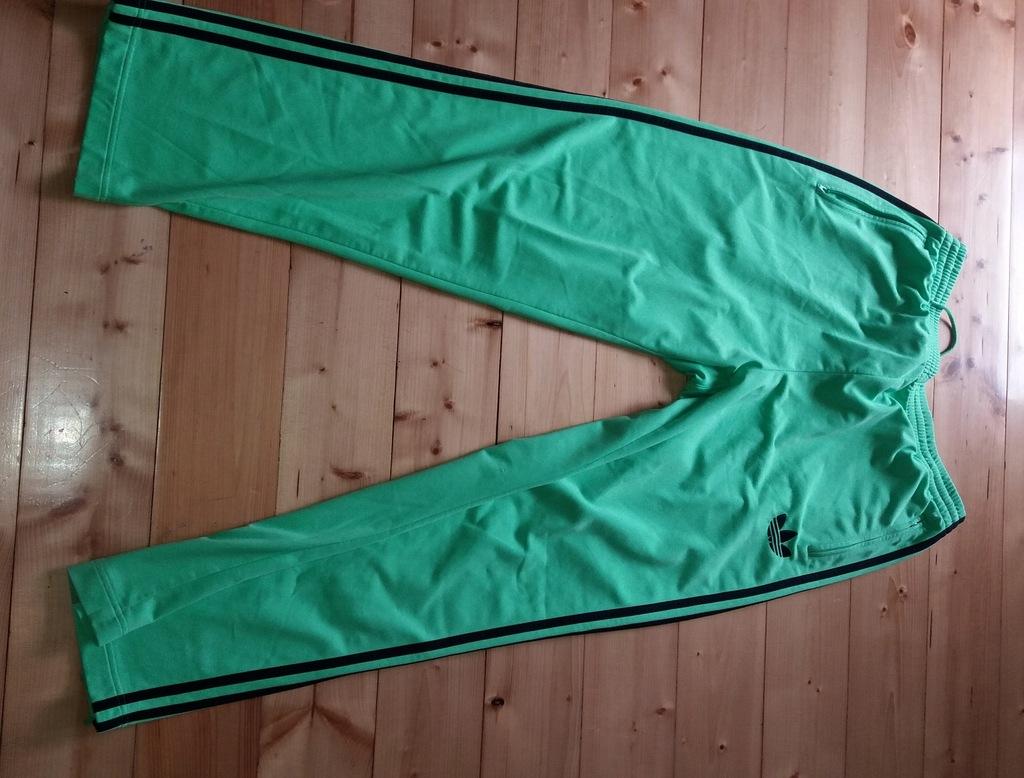 Spodnie Adidas Neon zieleń retro L/XL