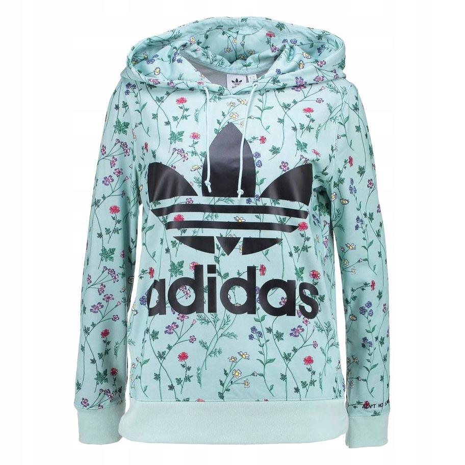 Bluza damska Adidas Originals wielokolorowa w kwiaty dresowa