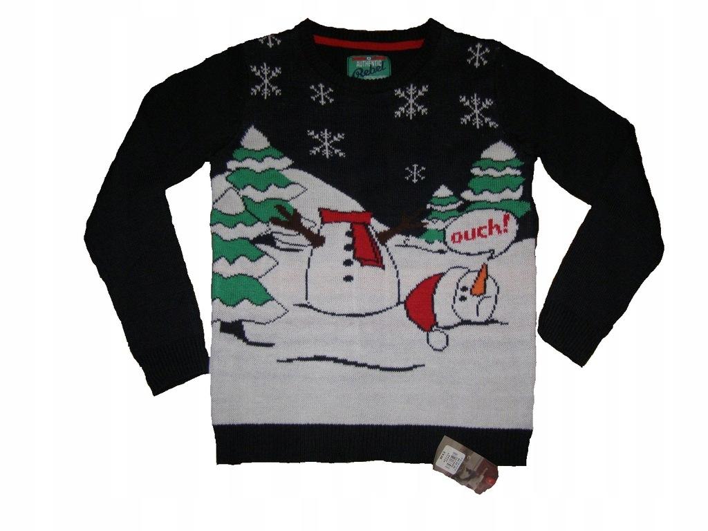 REBEL nowy świąteczny sweter 152 cm 11-12 lat