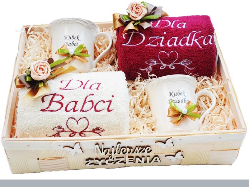 Kubki Reczniki Elegancki Prezent Na Dzien Babci 7122965500 Oficjalne Archiwum Allegro