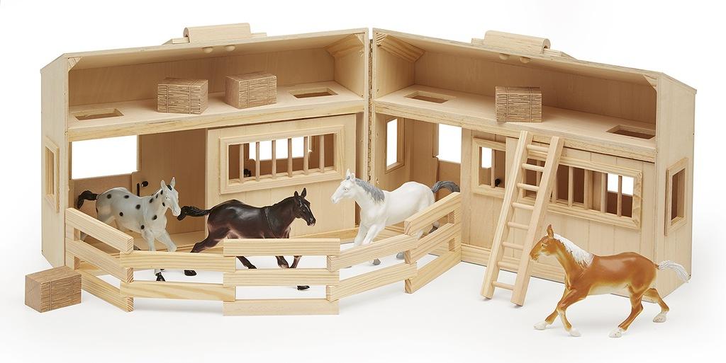 Domek dla Koni Stajnia drewniana + 4 Konie Melissa