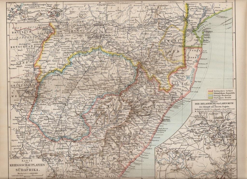 TRANSWAL ORANIA DURBAN 1905 ROK