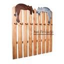 Drewniany Wieszak z Kotami 92 x 100 cm przedpokoj