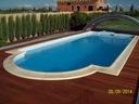 Basen kąpielowy baseny o dł 9,40m z leżanką Nowość
