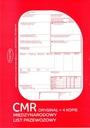 CMR-LIST PRZEWOZOWY 1+4, 1+3 (100 kartek)+GRATIS