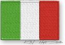 NASZYWKA termo - FLAGA WŁOCHY, Italy - haft