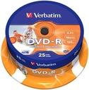 Verbatim DVD-R 4.7GB do nadruku PRINTABLE 25 sztuk
