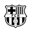 Naklejki FC BARCELONA na ścianę 100cm! + GRATIS!!