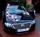 Ekskluzywna2 dekoracja samochodu na samochód ślub