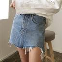 Spódnica dżinsowa damska oryginalna dziury HIT M Kolor niebieski wielokolorowy inny kolor