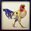 Kogut 3D Kolaż Obraz na ścianę do kuchni jadalnia