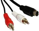 Kabel wtyk SVHS S-VIDEO / 2x wtyk RCA 3m FV (1482)