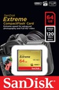 SANDISK 64GB Compact Flash EXTREME CF +120/85MB/s