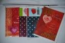 KARTKI NA WALENTYNKI 14 SZTUK