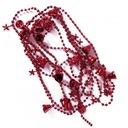 ZŁOTE DZWONECZKI NA ŁAŃCUSZKU - 270 cm MINI RED