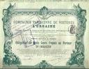 !KOMPANIA TAKSÓWEK PARYŻA! SUPER DEKO! 1902!