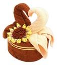 Tort z Ręczników /grube/ - Łabędzie krówki prezent