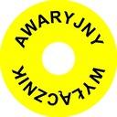 Naklejka Wyłącznik Awaryjny okrągła f VAT