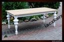 Dębowy stół, toczone nogi GLAMUR, 90/180