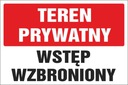 TABLICZKA - TEREN PRYWATNY 20x30 PCV 5mm