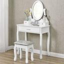 ТУАЛЕТНЫЙ столик и КОСМЕТИЧЕСКОЕ белая ? зеркалом + Табурет
