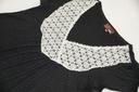 YUMI tunika z koronką połyskujący materiał S/M 38 Fason luźny
