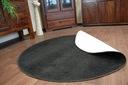DYWAN koło 100 cm TRENDY czarny jednolity @25052 Szerokość 100 cm