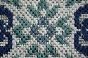 Dywan SIZAL 200x290 KWIATY biały/niebieski #B474 Szerokość 200 cm