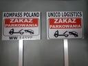Tabliczka Znak stelaż Parking twoja treść 20x30 Waga (z opakowaniem) 2 kg