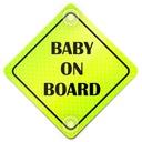 BABY ON BOARD ODBLASK NEON NA SAMOCHÓD PRZYSSAWKI