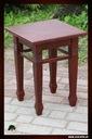Taboret dębowy , meble z litego drewna dębowe Liczba krzeseł w zestawie 1