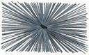 Szczotka kominiarska kominowa 140x240mm prostokąt