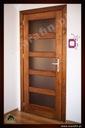 Drzwi drewniane sosnowe dębowe jesionowe na wymiar Kolor wykończenia Białe Jasne drewno Ciemne drewno Inny kolor
