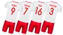Strój piłkarski POLSKA + getry WŁASNY NADRUK - 134 Typ na co dzień